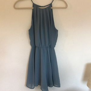 Dusty blue chiffon romper